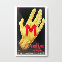 Vintage M Poster - Foreign Film Poster Metal Print