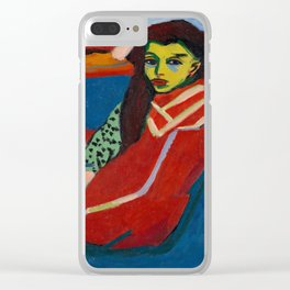 Ernst Ludwig Kirchner - Seated Girl, 1910 Clear iPhone Case