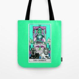 7. The Chariot- Neon Dreams Tarot Tote Bag