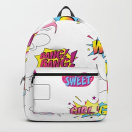 Girl Power Comic Style Backpack