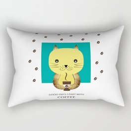 Good days start with coffee Rectangular Pillow