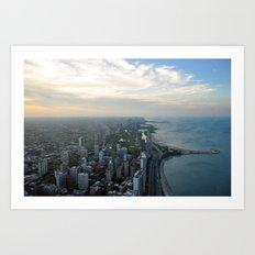 The Windy City Art Print