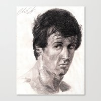 rocky Canvas Prints featuring Rocky by ChrisHdzArt