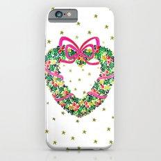 Xmas Heart Wreath iPhone 6s Slim Case