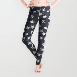 Linocut Stars - Navy & White