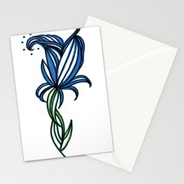 Tall Blue Stationery Cards