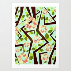 Blooming Trees Pattern III Art Print