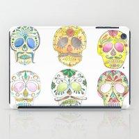 sugar skulls iPad Cases featuring Sugar Skulls  by Stephanie Eve