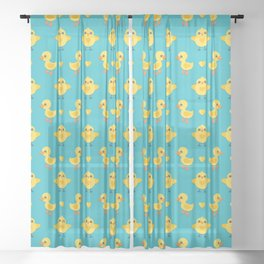 CHICKS AND DUCKLINGS Sheer Curtain