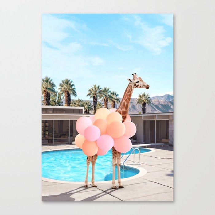 Giraffe Palm Springs Leinwanddruck