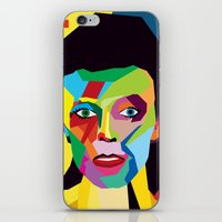 bowie iPhone & iPod Skins featuring bowie by mark ashkenazi