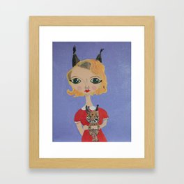 ~ Bobcat ~ 10 Year Old Amelia's Arizona Critter Girl Framed Art Print