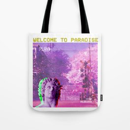 Retro Aesthetic Streetwear Gift Vaporwave Welcome to paradise Tote Bag