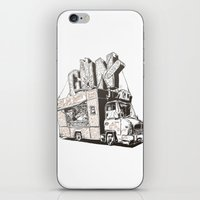 truck iPhone & iPod Skins featuring Shopping Truck by Mitt Roshin