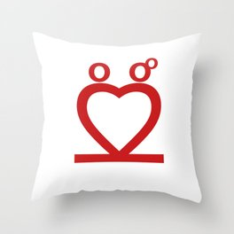 Two Love Throw Pillow