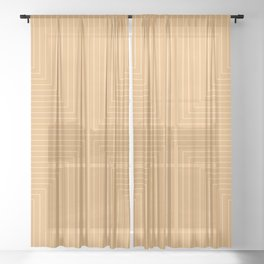 Angular Lines XII Sheer Curtain