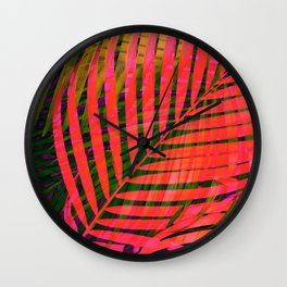COLORFUL TROPICAL LEAVES no4 Wall Clock