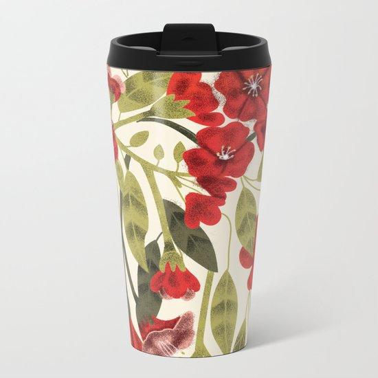 Red Garden Metal Travel Mug