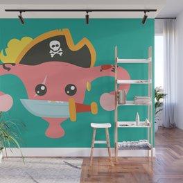 Avast, me hurties Wall Mural