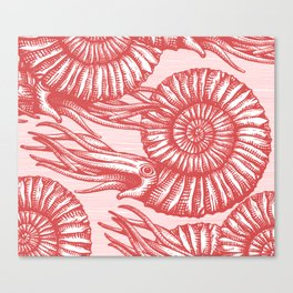 AMMONITE COLLECTION RED Canvas Print