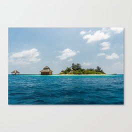 Maldives - in the middle of nowhere  Canvas Print