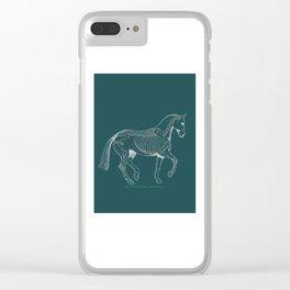 Da Vinci Horse: Dressage Piaffe Clear iPhone Case
