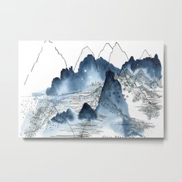 Love of mountains landscape format Metal Print