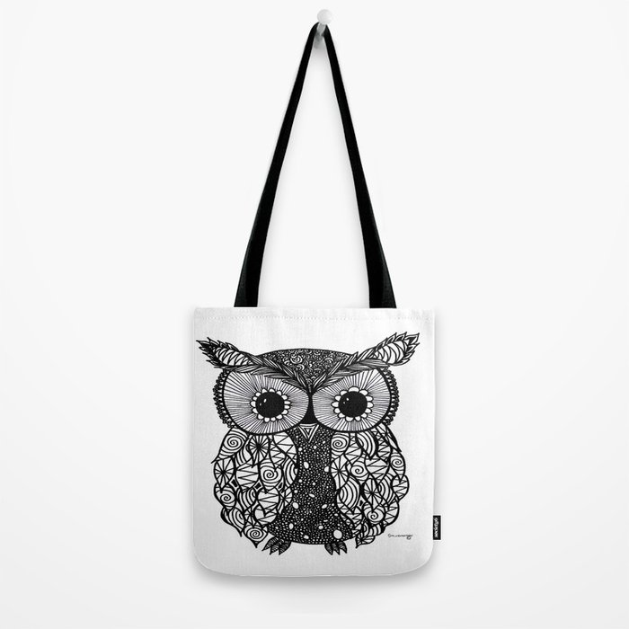 crazy owl Tote Bag