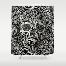 Lace Skull Shower Curtain