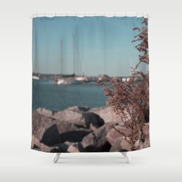 Boat Launch Shower Curtain