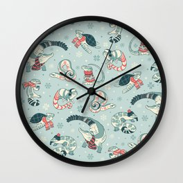 Winter herps Wall Clock