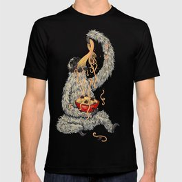 Three Toed Sloth Eating Spaghetti From a Bowl T-shirt