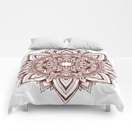 fire escape mandala Comforters