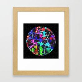 Disco Ball Night Framed Art Print
