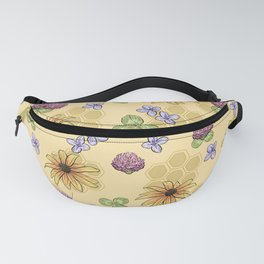 Flowers and Honeycomb Fanny Pack
