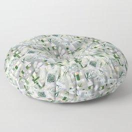 green_pattern Floor Pillow