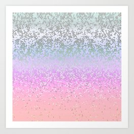 Glitter Star Dust G251 Art Print