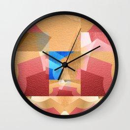 Retro Abstract Meditation NO. 4 Wall Clock