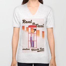 Rent a Taxi! London Unisex V-Neck