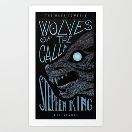 Wolves of the Calla (alternative cover) Art Print