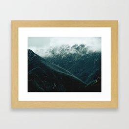 aussie mountains Framed Art Print