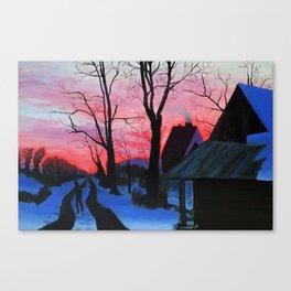 Snow Romance Canvas Print