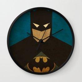 BatMans minimalist Gotham Artwork Wall Clock