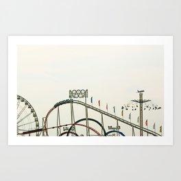 Funfair Duesseldorf Art Print