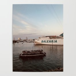 Barcelona Port Poster