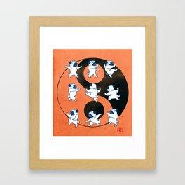 Pug Tai Chi Moves Framed Art Print