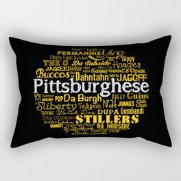 Pittsburghese Rectangular Pillow