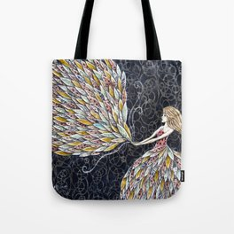 She Fancied a sky full of Feathers Tote Bag