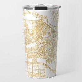 AMSTERDAM NETHERLANDS CITY STREET MAP ART Travel Mug