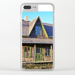Rustic Homestead Clear iPhone Case